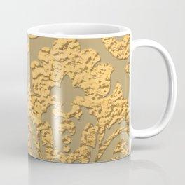 Gold Metallic Damask Print Coffee Mug