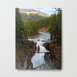 Rocky Mountain Waterfall   Metal Print