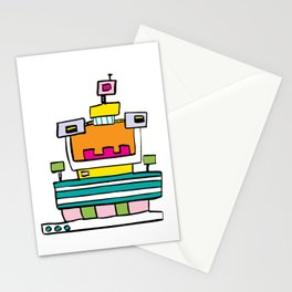 Big Smile Robot Stationery Cards