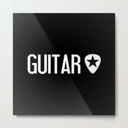 Guitarist: Guitar Pick & Black Star Metal Print