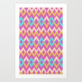 Ikat inspired Art Print