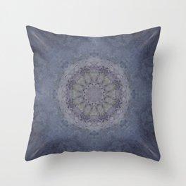 Silver Falls Mandala Throw Pillow