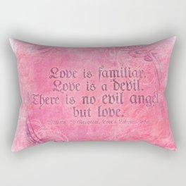 Cupid Kills - Shakespeare Love Quote - Much Ado Rectangular Pillow