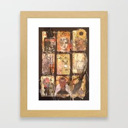 playing your cards Framed Art Print