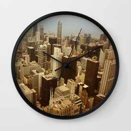 Chicago Roofs Wall Clock