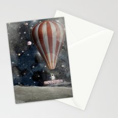 a space adventure Stationery Cards
