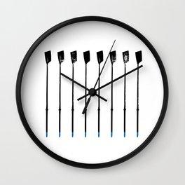 Rowing Oars 1 Wall Clock