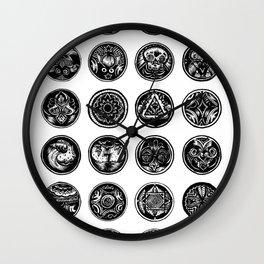 Circular Motifs Wall Clock