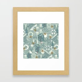 hexagon city Framed Art Print