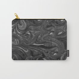 Midnight Black Swirls Carry-All Pouch