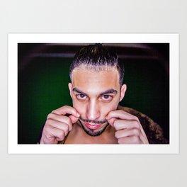 Mustache Man Art Print