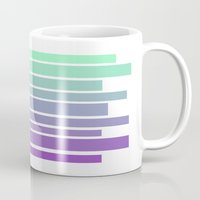 ombre Mugs featuring Ombre by Miranda Williams
