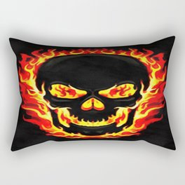 Flame Skull Rectangular Pillow