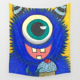 Monster and his cupcake Wall Tapestry