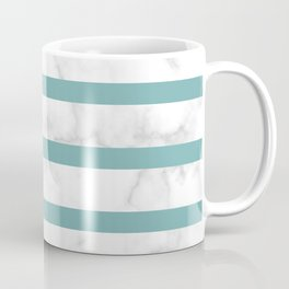 marble horizontal stripe pattern turquoise Coffee Mug