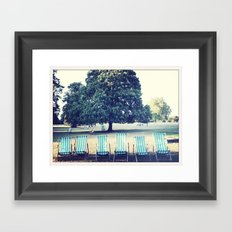 Hyde Park Chairs Framed Art Print