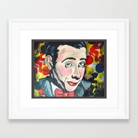pee wee Framed Art Prints featuring Pee Wee by Portraits on the Periphery