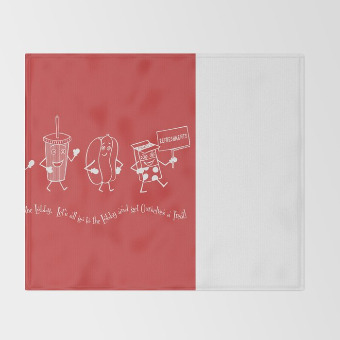 Let's All Go to the Lobby! - Red Throw Blanket