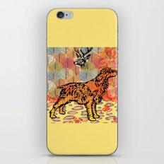Hunting dog pop art iPhone & iPod Skin