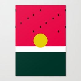Watermelon Sunrise Canvas Print