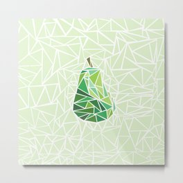 Pear geometry Metal Print