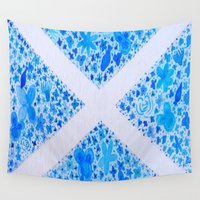 scotland Wall Tapestries featuring Oh, Flower of Scotland by Hayley Lang