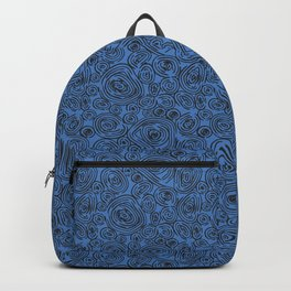 Black and Blue Abstract Circles Backpack
