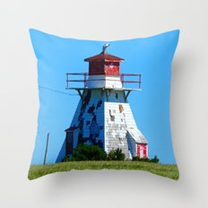 Lighthouse in Disrepair Throw Pillow