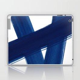 Indigo Abstract Brush Strokes   No. 4 Laptop & iPad Skin