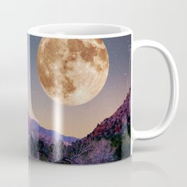zion national park full moon and comet Coffee Mug