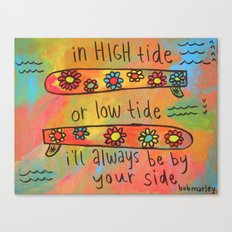 high tide low tide by your side painting Canvas Print