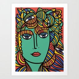 The Empress Pop Art Cubism Tarot Card by Emmanuel Signorino Art Print