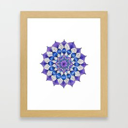 Rhapsodala in Blue Framed Art Print