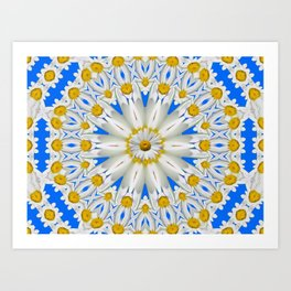Daisy Chain Kaleidoscope A151 Art Print