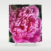 peony Shower Curtains featuring Peony by IowaShots