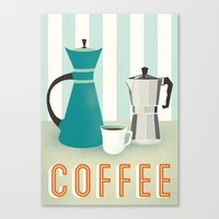 coffee Canvas Prints featuring Coffee by Jenny Tiffany