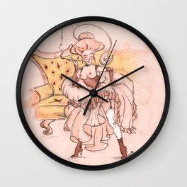 Weekdays of a courtesan. She doesn't like her shoes. Wall Clock