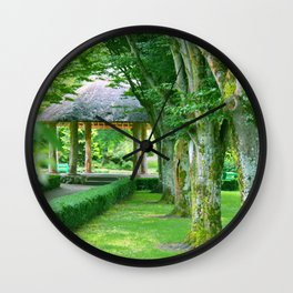 Green Gazebo Wall Clock