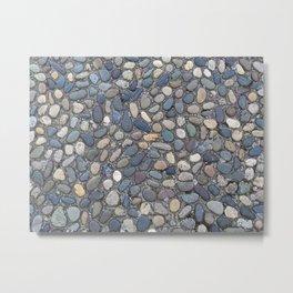 Paving Pebbles Metal Print