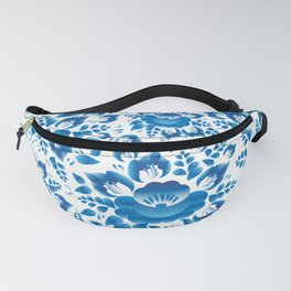 Vintage shabby Chic spring romantic pattern with sky blue flowers Fanny Pack