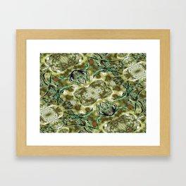 Golden Brances Framed Art Print