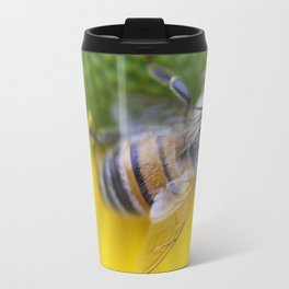 Honeybee on Yellow Travel Mug