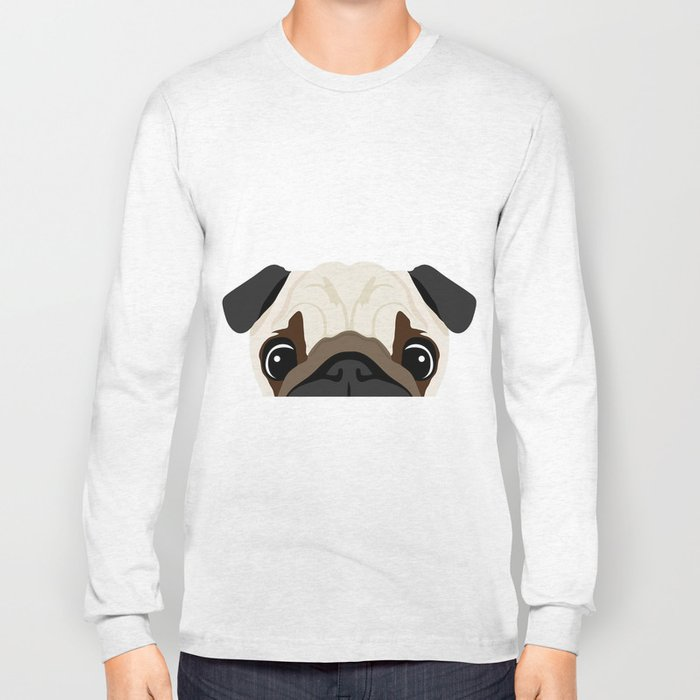 Peeking Pug Long Sleeve T-shirt