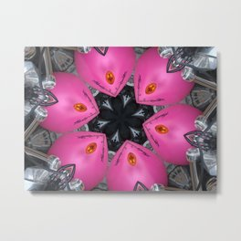 Hearts (from a pink Harley Davidson's motorbike!) Metal Print
