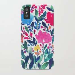 hand painted flowers_3a iPhone Case