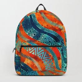 Wavy Tribal  Ethnic Boho Pattern Backpack