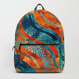 Wavy Tribal  Ethnic Boho Pattern Backpack