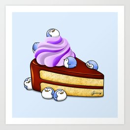 Choc Penguin Cake Art Print