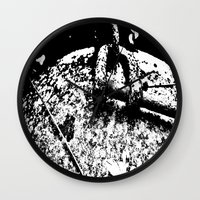 2001 Wall Clocks featuring 2001 by Alan Pary