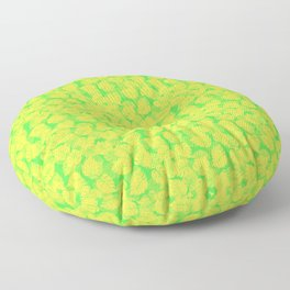 Big Monstera Tropical Leaf Hawaii Rain Forest Lemon Yellow and Lime Green Floor Pillow